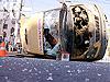 Маршрутное такси 25 перевернулось на перекрестке улиц Свободы и Тимирязева в Челябинске в результате столкновения с...